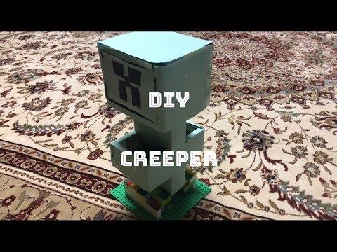 DIY Minecraft Creeper Desk Organizer!!!