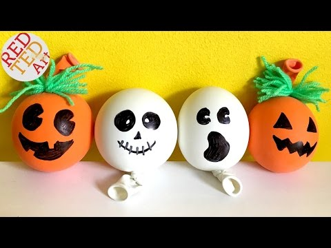 DIY Stress Balls for Halloween – Pumpkin Stress Ball – Ghost DIY – (Sensory toy)