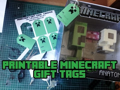 Printable Minecraft Gift Tags