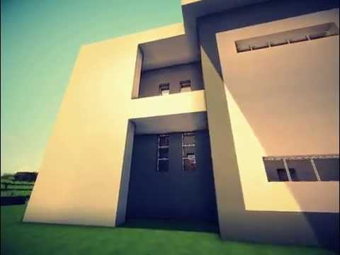 Дизайн домов в MineCraft. Дом в минималистическом стиле (Выпуск 4)
