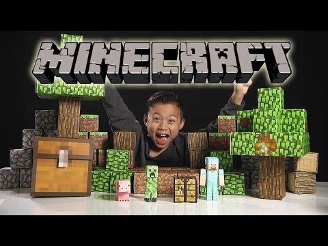 MINECRAFT Papercraft Overworld Deluxe Set – Unboxing & Review