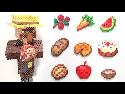 DIY Minecraft Foods Mini Bead Crafts