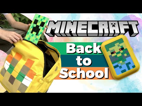 [DIY] How To Make Minecraft School Supplies | 3 Ideas For Back To School Crafts