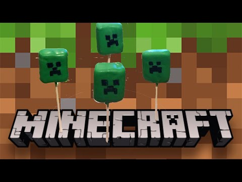 Easy Minecraft Creeper Pops Minecraft Cake Pops Minecraft Crafts