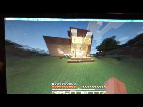 Как построить роскошный дом в Minecraft в выживании [часть3] строим стены и потолок.