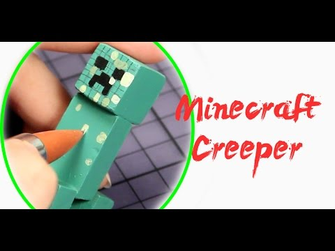 How to Make a CREEPER FIGURE – MINECRAFT POLYMER CLAY Tutorial