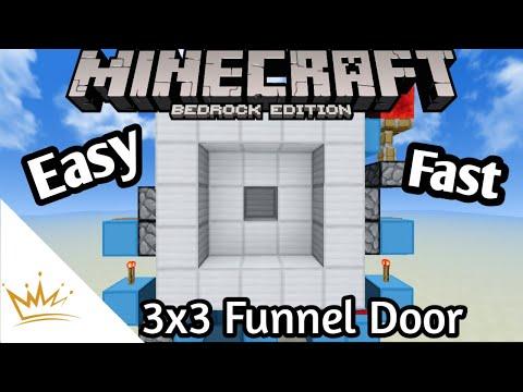 Minecraft Pe 3×3 Funnel Door (Pe/Windows10/bedrock/switch/Xbox)| TheKingPH