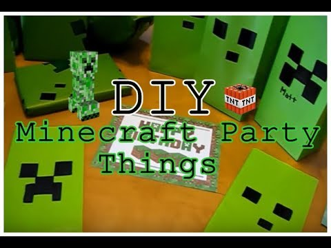 DIY : Minecraft Wrapping Paper & Party Bags