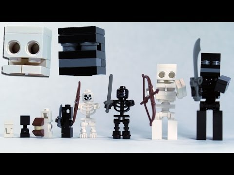 How To Build LEGO Minecraft Skeleton & Wither Skeleton