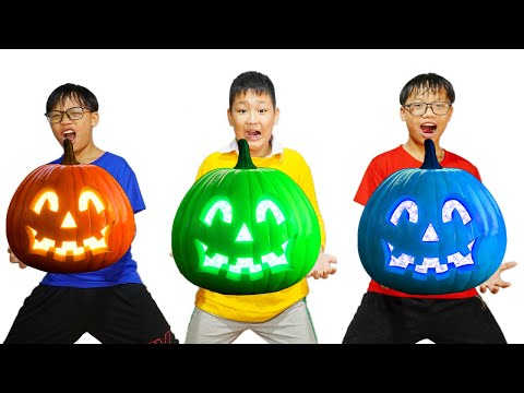 HCN Go School Learn Color PUMPKIN ! Drawing and Coloring Pumpkin Halloween