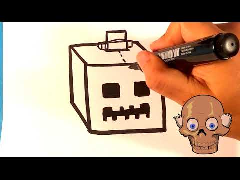 How to Draw Minecraft Pumpkin – Halloween Drawings