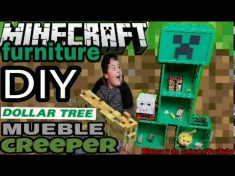minecraft mueble de creeper DIY dollar tree