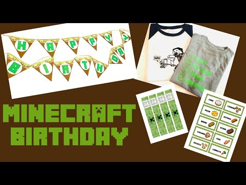 Minecraft Birthday Cricut