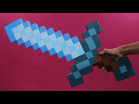 How To Make minecraft sword with cardboard