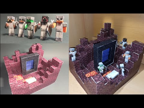 How to make Speedrunner vs 4 Hunters using only paper. Minecraft Papercraft.