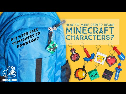 How to make perler beads Minecraft characters? Easy Craft for children – Free time ideas