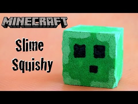 "DIY Minecraft Craft – Slime Squishy Stress ""Ball"" // Glow in the Dark Minecraft Squishy"