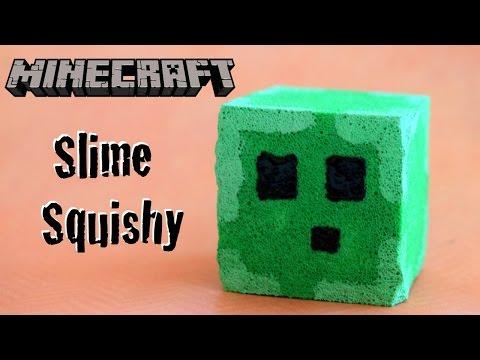 """DIY Minecraft Craft – Slime Squishy Stress """"Ball"""" // Glow in the Dark Minecraft Squishy"""