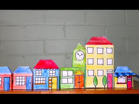 How to make Pop-up paper village