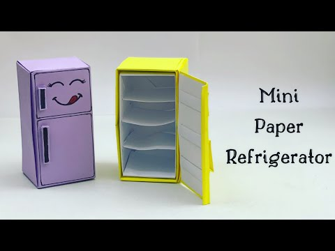 DIY MINI PAPER REFRIGERATOR / Paper Craft / Easy Origami  Refrigerator DIY / Paper Crafts Easy