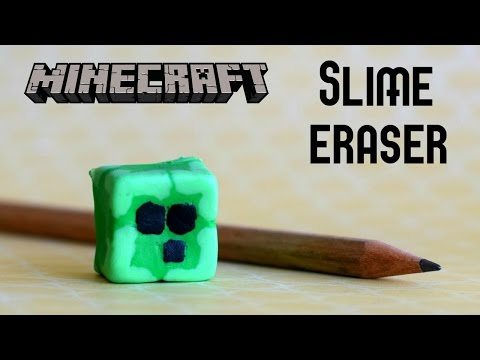 DIY Minecraft Slime Eraser // How to make a squishy slime eraser // Minecraft Craft