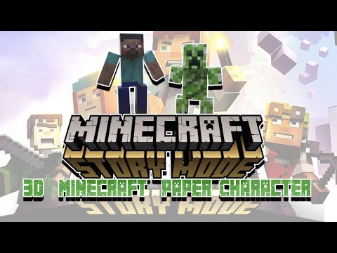 How to Make 3D  Minecraft  Paper Character