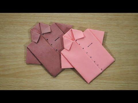 how to make origami shirt | origami shirt | easy paper shirt