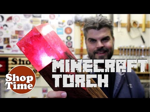 Minecraft Redstone Torch in REAL LIFE