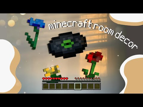 DIY MINECRAFT DISC AND FLOWERS ~ tutorial/paint with me