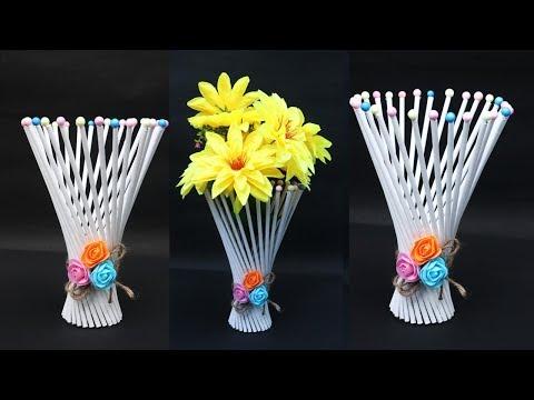 DIY Flower pot out of newspaper || how to make Flower bouquet || handmade DIY & Craft