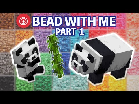 Let's Make a Minecraft Panda Head | PART 1 Livestream Perler Bead with Me