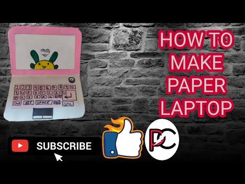 || how to make a paper laptop || || DIY miniature laptop| || origami laptop || paper craft||