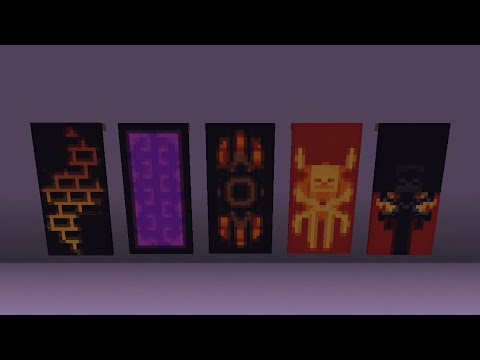 5 Awesome Nether Banner Designs (Tutorial)