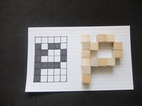 Lower  Case Letter P Minecraft Font using Grid and Wood Blocks