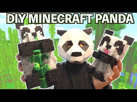 DIY Minecraft Panda Perler Bead Figure