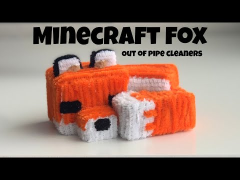 Making a Minecraft Fox out of pipe cleaners
