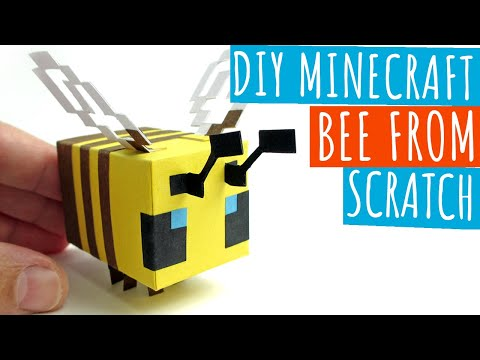DIY Minecraft Bee From Scratch | Minecraft Papercraft Bee | Paper Crafts