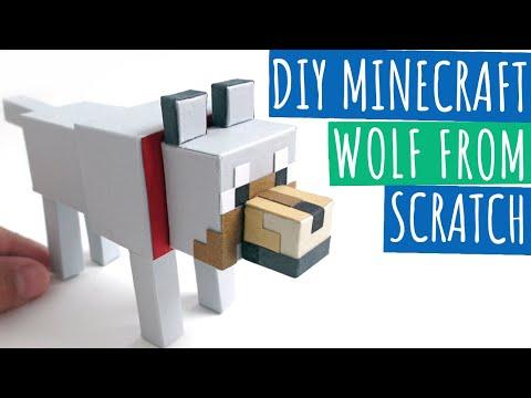 DIY Minecraft Wolf From Scratch | Minecraft Papercraft Wolf | Paper Crafts
