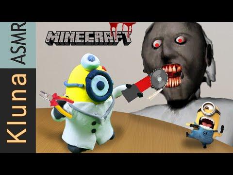 Dr. MINION Check GRANNY's Teeth –  Dentist Operation – Kluna Tik eating Minecraft Animation ASMR