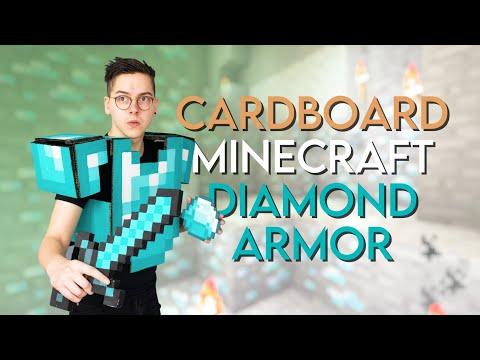 Making a Cardboard DIAMOND MINECRAFT ARMOR!