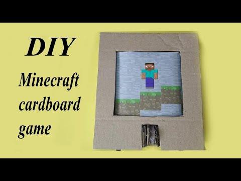 DIY Cardboard game Minecraft \ Cardboard game idea