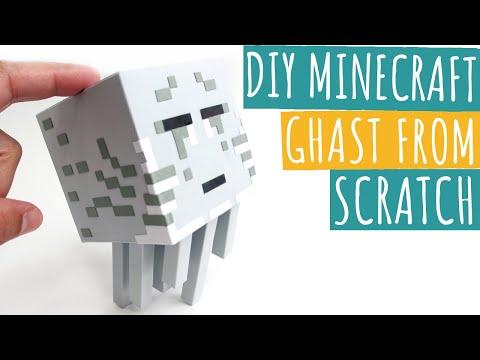 DIY Minecraft Ghast From Scratch | Minecraft Papercraft Ghast | Paper Crafts
