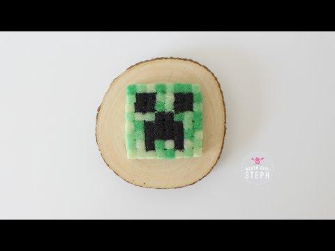 MINECRAFT COOKIES || Pixel Creeper Head Sugar Cookies