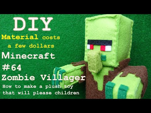 [Minecraft]Zombie Villager – How to make a plush toy – DIY