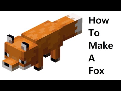 How to make a paper Fox (Minecraft ) Papercraft toy. Easy to make. Papercraft