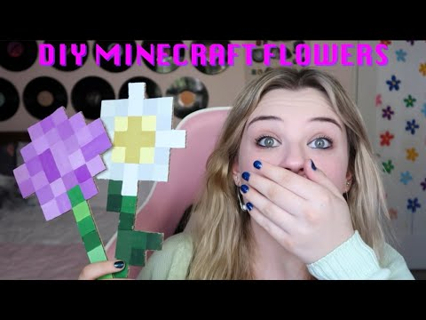 DIY Minecraft Flowers
