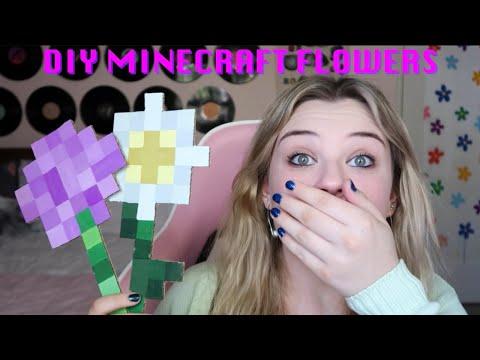 DIY Minecraft Flowers