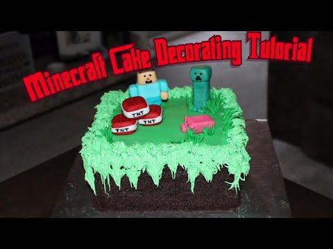 Minecraft Cake Decorating Tutorial