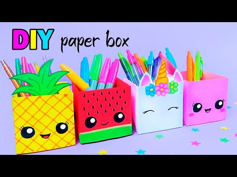 How to Make a Paper Pen Holder / DIY Paper Pen Holder / Easy Origami Tutorial