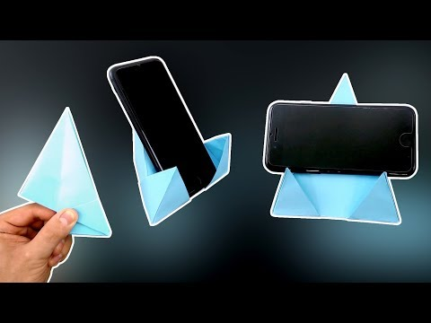 DIY – Origami Phone Stand/Holder 4.0 – Vertical and Horizontal! @Easy Origami & Crafts